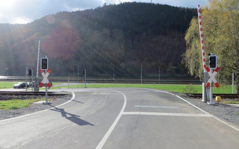 Bahnübergänge, Westfrankenbahn